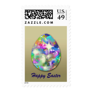 Baubles and Beads Abstract Postage