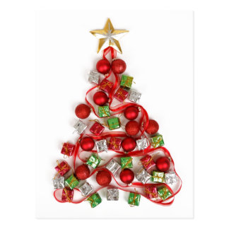 Baubles and Presents Christmas Tree Postcard