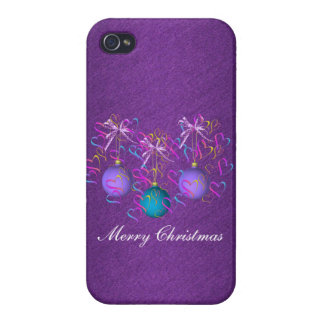 Baubles Bows and Hearts iPhone 4/4S Case