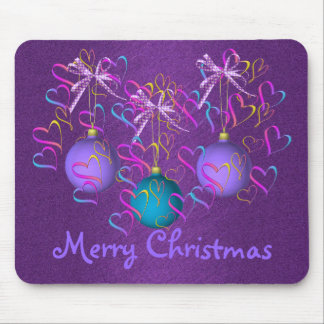 Baubles Bows and Hearts Mouse Pad