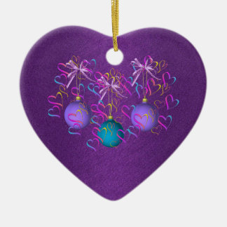 Baubles Bows and Hearts Ornament