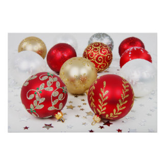 Baubles for Christmas Poster