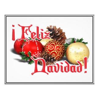 Baubles & Pine Cones - Feliz Navidad Flyer Design