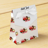 Baubles & Pine Cones - Feliz Navidad Party Favor Boxes