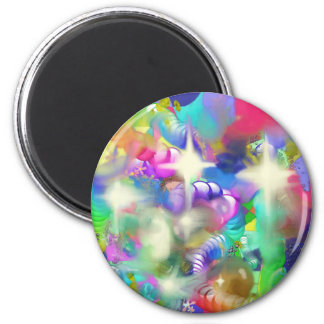 Baubles Sparkles and Beads 2 Inch Round Magnet