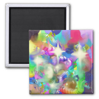 Baubles Sparkles and Beads 2 Inch Square Magnet