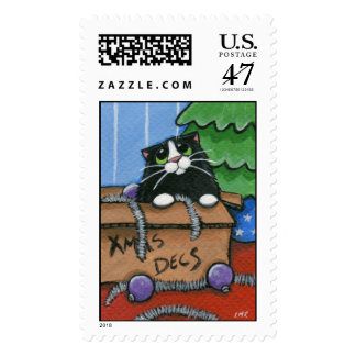Baubles, Tinsel and 1 Cat - Festive Postage