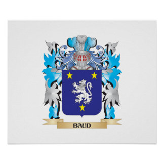 Baud Coat of Arms Poster