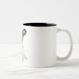 Baudin's Cockatoo by Edward Lear Two-Tone Coffee Mug