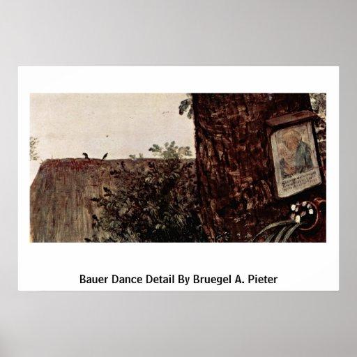 Bauer Dance Detail By Bruegel A. Pieter Poster