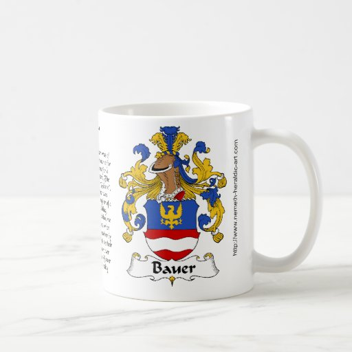 Bauer Family Crest on a mug