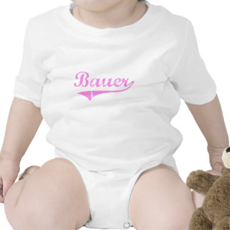 Bauer Last Name Classic Style Rompers