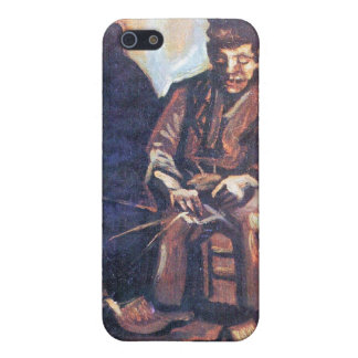 Bauer, sitting in and making basket by van Gogh iPhone 5 Cover