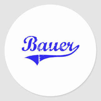 Bauer Surname Classic Style Classic Round Sticker