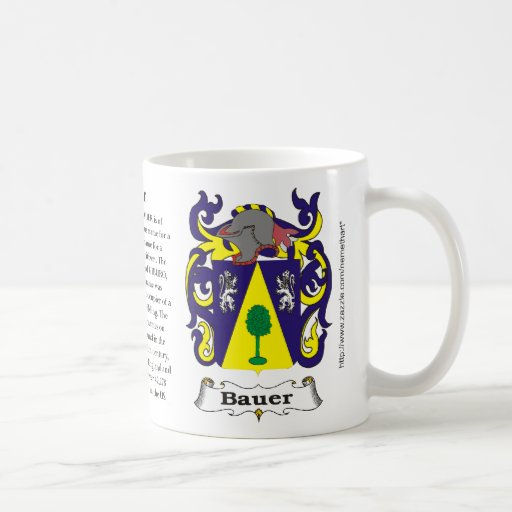 Bauer, the origin, meaning and the crest mug