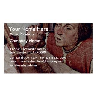 Bauerntanzgässchen Detail By Bruegel D. Ä. Pieter Business Card