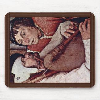 Bauerntanzgässchen Detail By Bruegel D. Ä. Pieter Mouse Pads