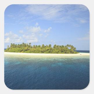 Baughagello Island, South Huvadhoo Atoll, 3 Square Sticker