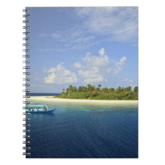 Baughagello Island, South Huvadhoo Atoll, Spiral Notebook