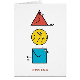 Bauhaus Birdies Card