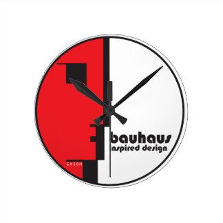 "BAUHAUS Classic Circle ""Lineface"" Profile Icon Round Wall Clock"