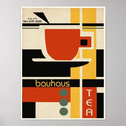 bauhaus design tea poster zazzle. Black Bedroom Furniture Sets. Home Design Ideas