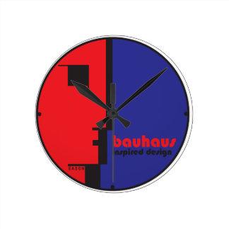 BAUHAUS Inspired Design Classic Line-Face ICON Round Clock