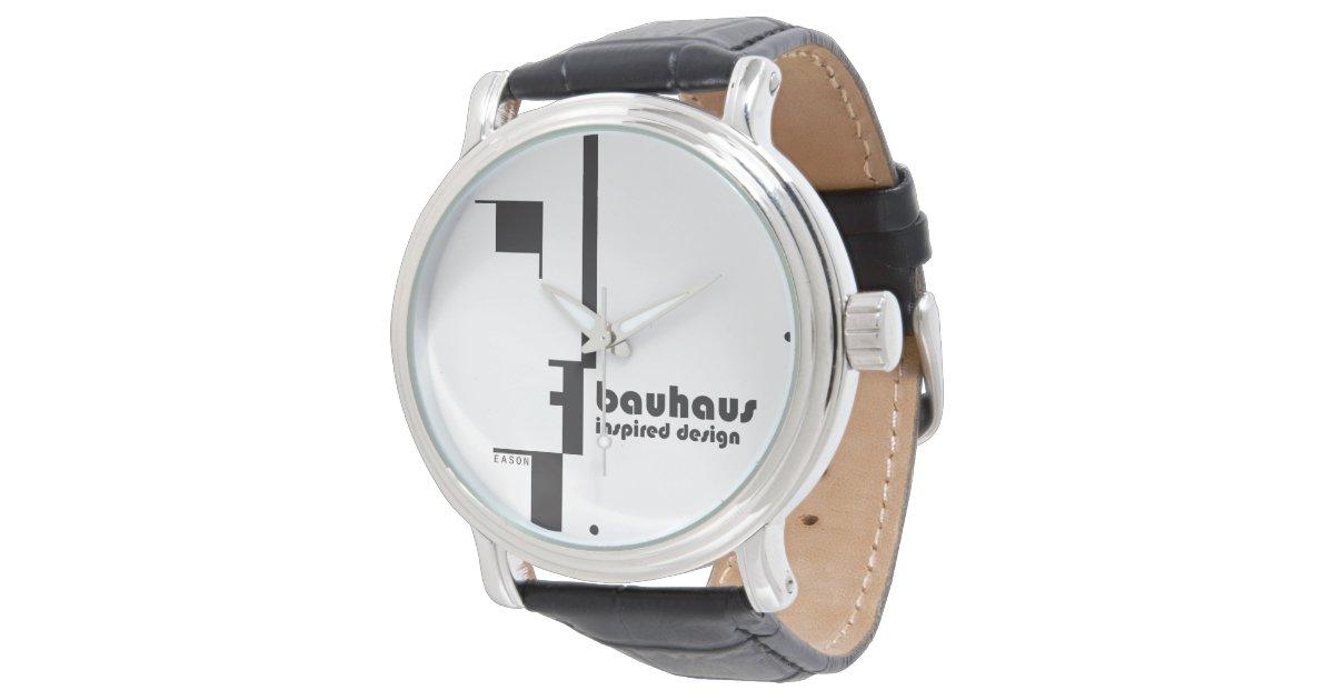 Bauhaus inspired design classic line face watch zazzle for Replica bauhaus