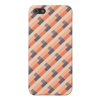 Bauhaus Inspired Geometric Pattern Coral & Violet iPhone 5 Cases