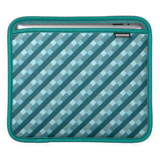 Bauhaus-inspired Geometric Pattern Turquoise Green Sleeve For iPads