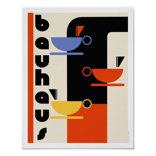 Kitchen Art Nz: Bauhaus Kitchen Coffee Art Poster