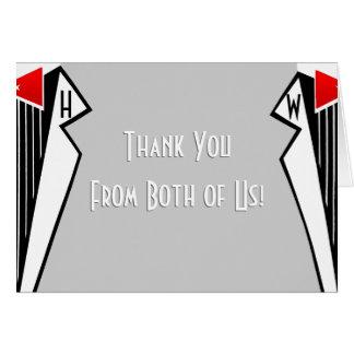 Bauhaus Tuxedo (Thank You From Both) Cards