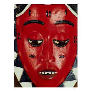 Baule mask, Ivory Coast Postcard