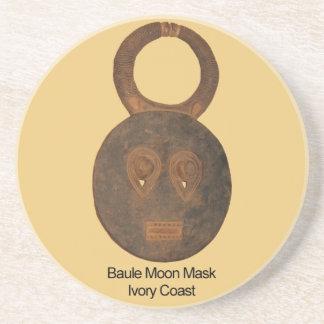 Baule Moon Mask Drink Coaster