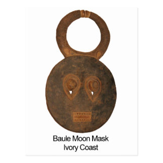 Baule Moon Mask Postcard