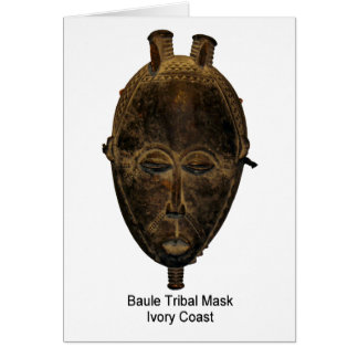 Baule Tribal Mask Note Card