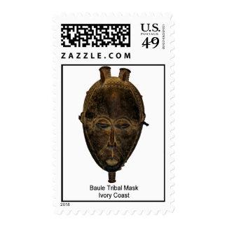 Baule Tribal Mask Postage