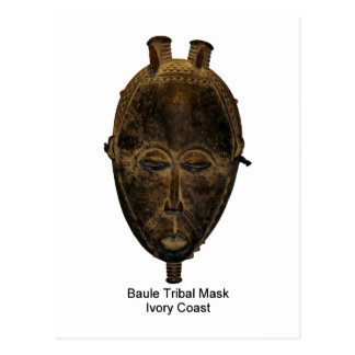 Baule Tribal Mask Postcard