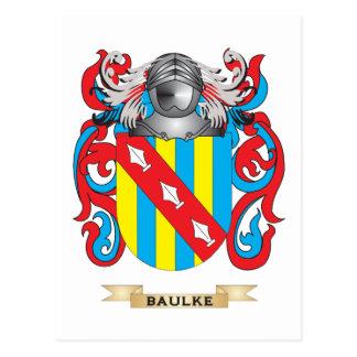 Baulke Coat of Arms (Family Crest) Postcard