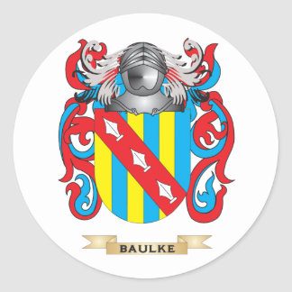 Baulke Coat of Arms (Family Crest) Classic Round Sticker