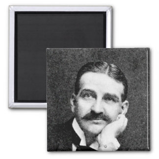 Baum ~ Frank Lyman Writer Wizard of Oz 2 Inch Square Magnet
