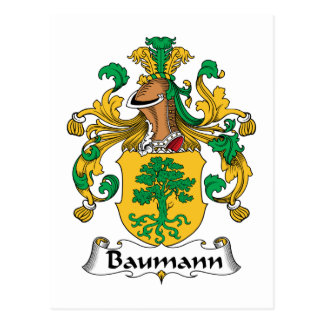 Baumann Family Crest Postcard
