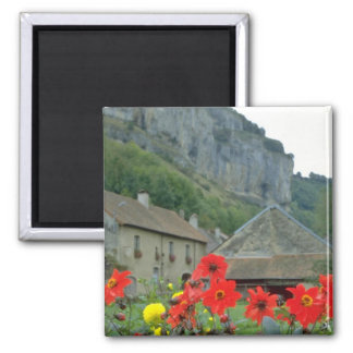 Baume-les-Messieurs, France flowers 2 Inch Square Magnet