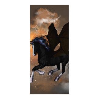 Bautiful dark unicorn 4x9.25 paper invitation card