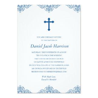 """Bautismo/bautizo de los muchachos azules invitación 5"""" x 7"""""""