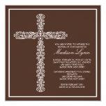 Bautismo cruzado Inviation del bebé del bautizo Invitación 13,3 Cm X 13,3cm