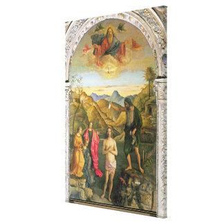 Bautismo de Cristo, Altarpiece de St. John Impresiones En Lona