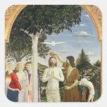 Bautismo de Cristo Calcomanías Cuadradass