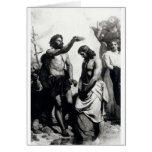 Bautismo de Cristo. circa 1879 Tarjeton