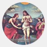 Bautismo de Cristo de Francia Francisco Pegatina Redonda
